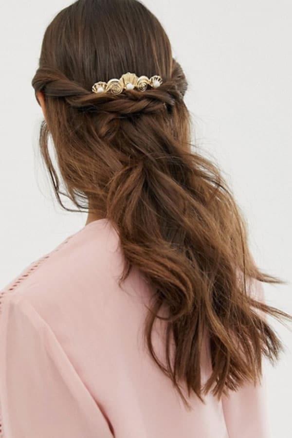 Tenue de mariage : Barrette dorée cheveux ASOS
