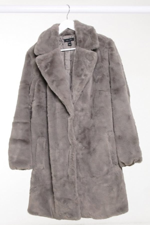 Manteau fausse fourrure grande taille