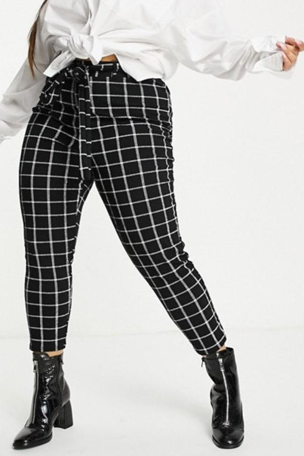 Pantalon carreaux grande taille