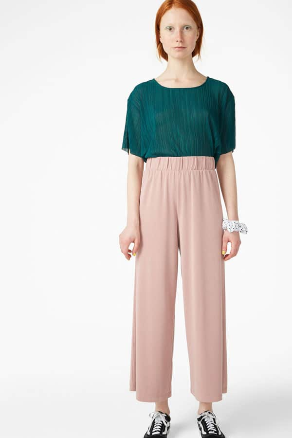 Pantalon rose pastel Monki