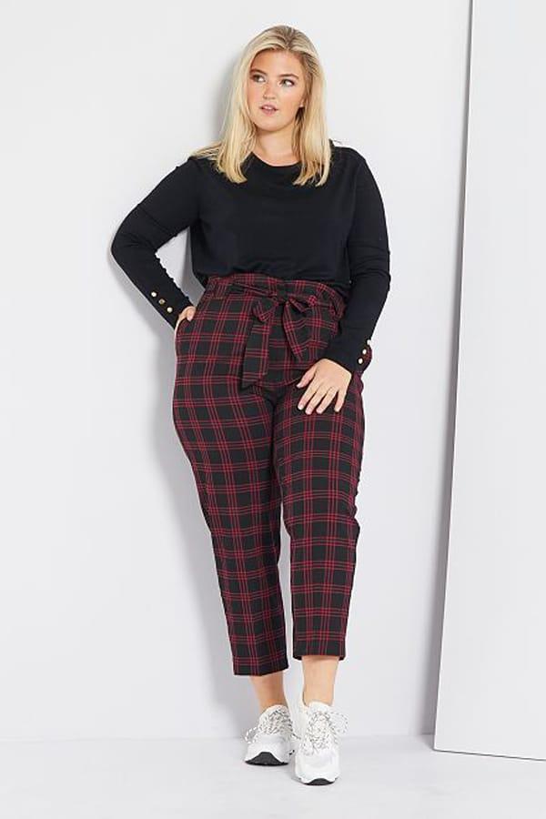 Pantalon tartan grande taille