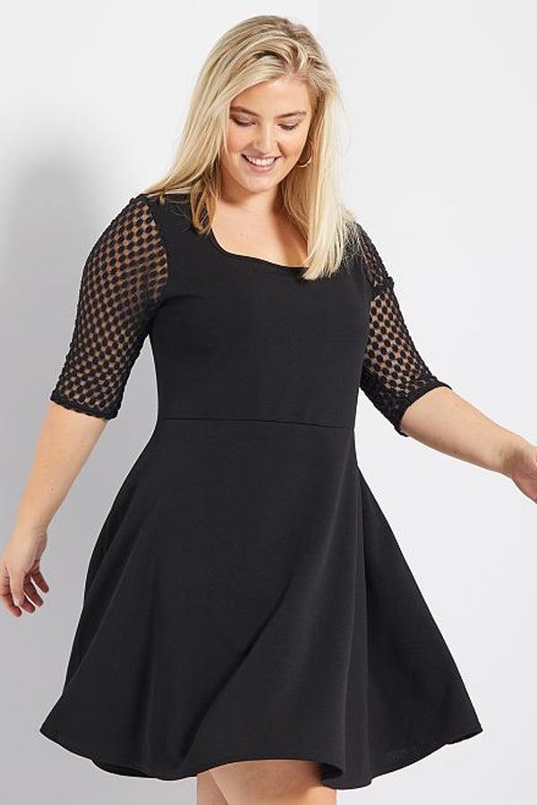 Petite robe noire grande taille