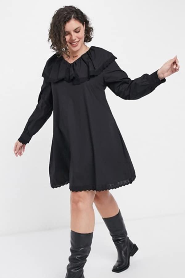 Robe babydoll noire grande taille