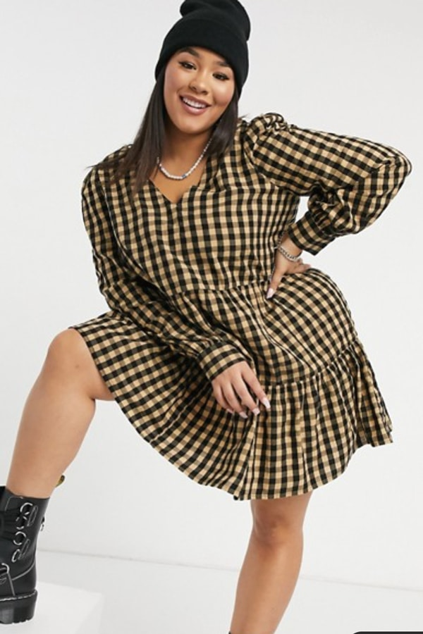 Robe carreaux grande taille
