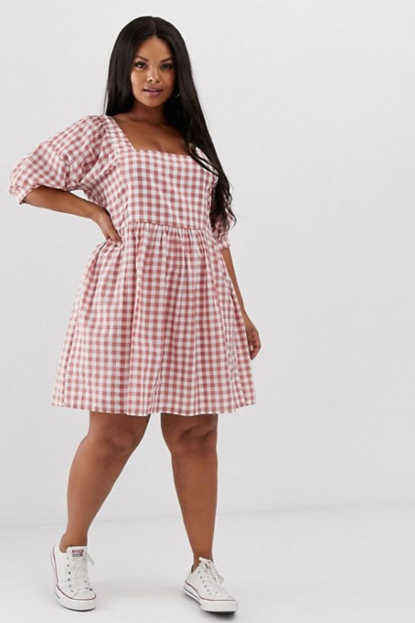 Robe à carreaux ASOS