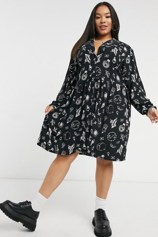 Robe chemise grande taille