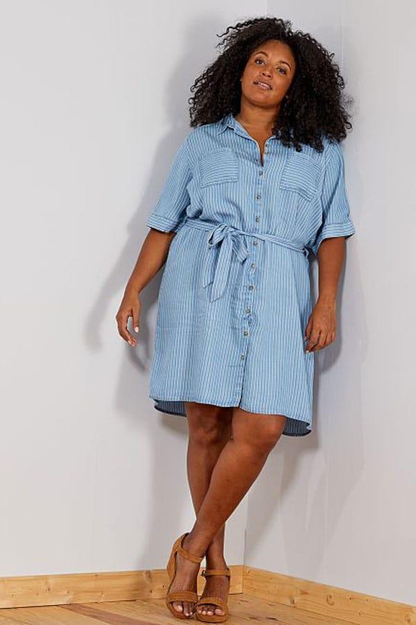 Mode femme ronde : robe chemise