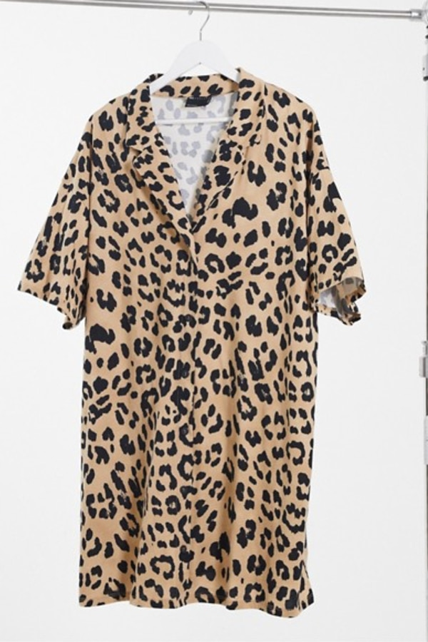Robe chemise leopard grande taille