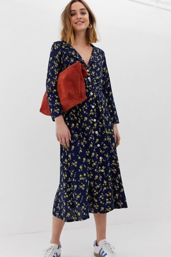 Mode printemps : robe à fleurs