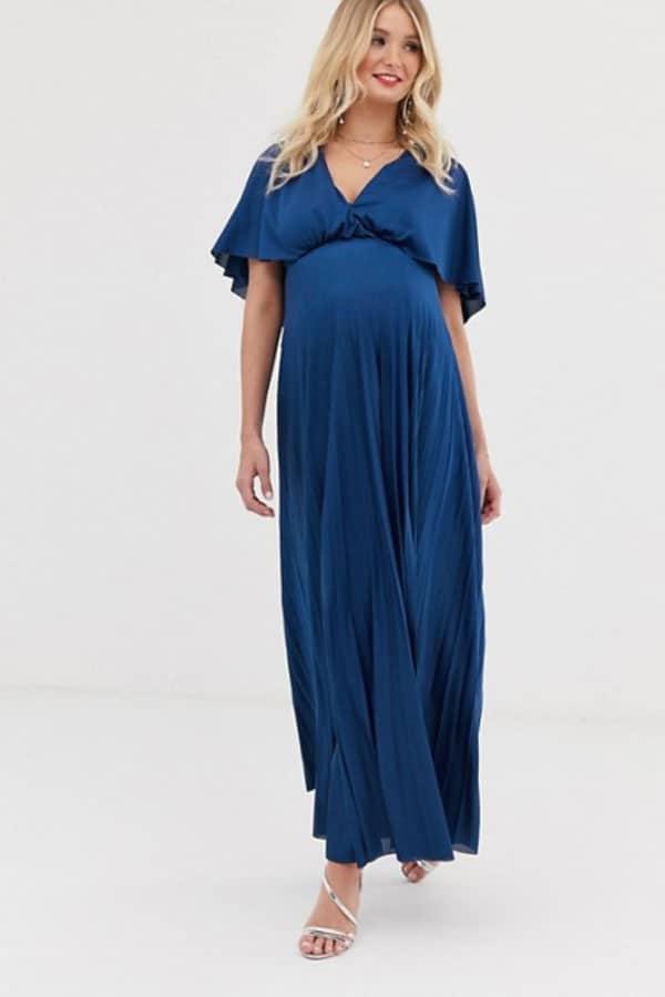Tenue de mariage : Robe longue de grossesse