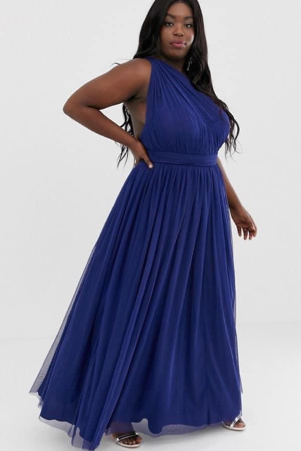 Tenue de mariage : Robe longue grande taille