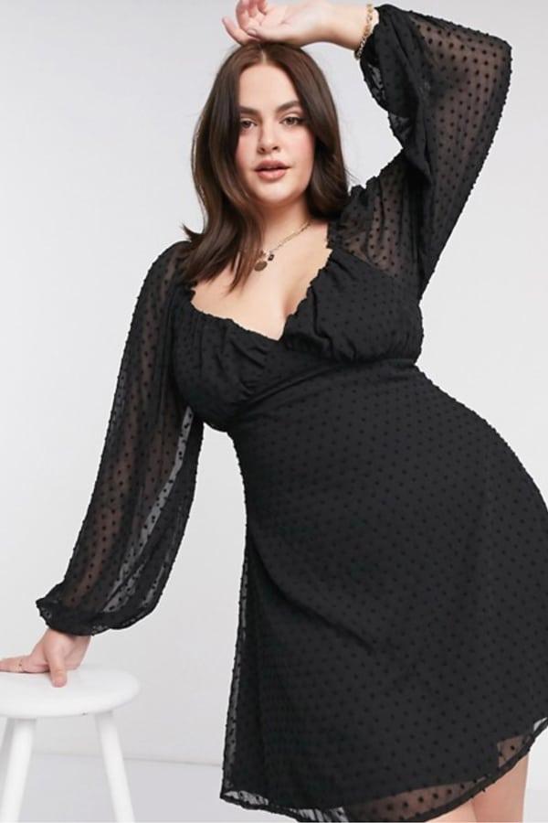 Robe noire grande taille