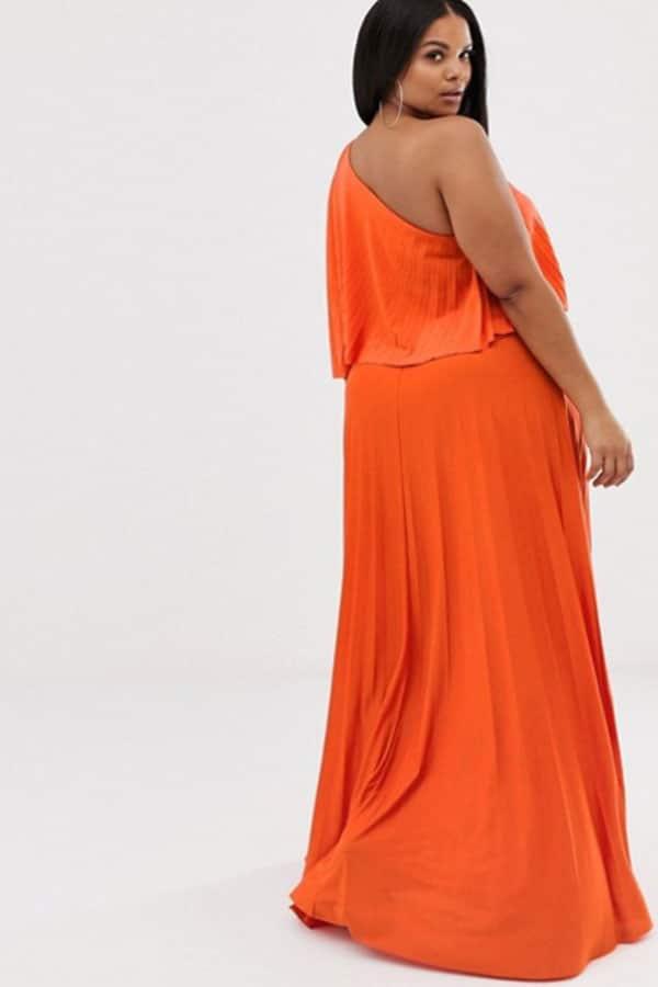 Tenue de mariage : Robe grande taille orange ASOS