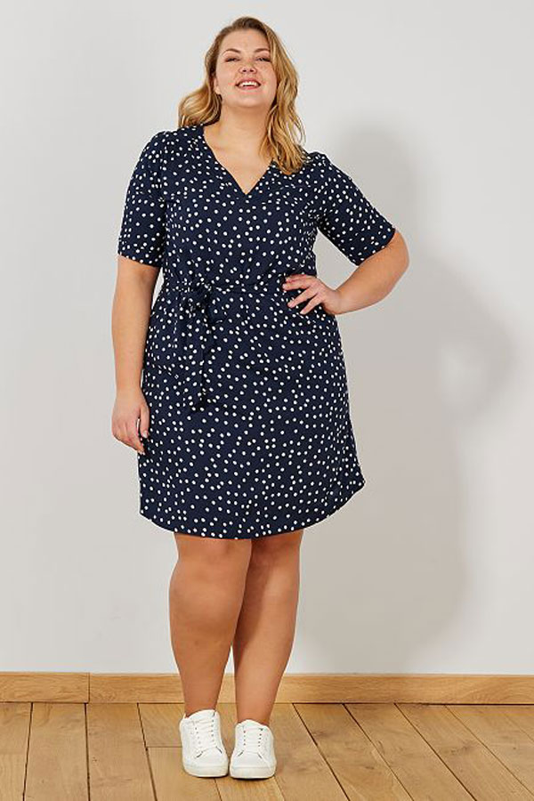 Mode grande taille : robe à pois